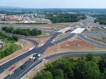 I-66/Route 15 Diverging-Diamond Interchange